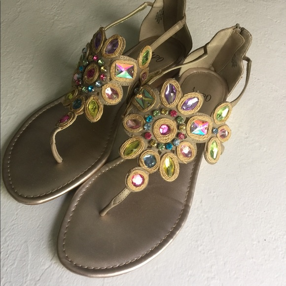 5d85b1328 Impo Shoes - IMPO jeweled sandals size 11